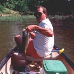 Canoe, kayak or pontoon fishing
