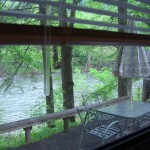 Getaway RV view of outdoor space and river
