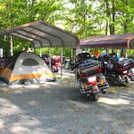 Group camping shelters