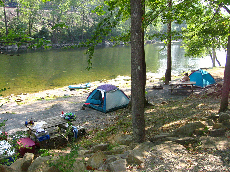 Greenbrier river campground campground for Camp sites with cabins