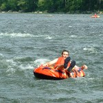 Tubing the rapids