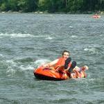 Tubing the rapids