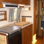 Airstream kitchen area view